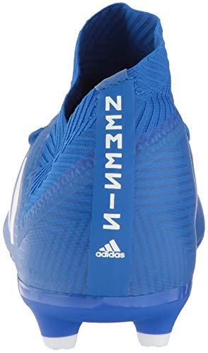 adidas Unisex Nemeziz 18.3 Firm Ground Soccer Shoe, White/Football Blue, 3.5 M US Big Kid by adidas (Image #2)