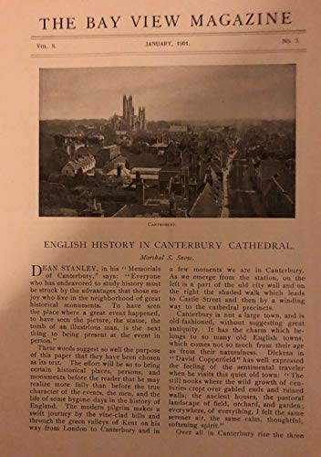 1901 England Canterbury Cathedral West Gate Christ Church Gate Close illustrated (Canterbury Cathedral Gate)