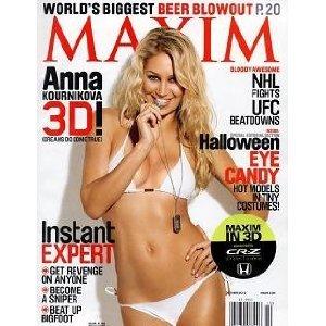 Maxim in 3D October 2010 Anna Kournikova 3D NHL UFC Halloween Eye Candy]()