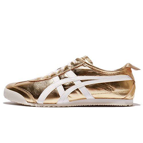 Asics Heren Mexico 66, Goud / Wit, 27,5 Cm