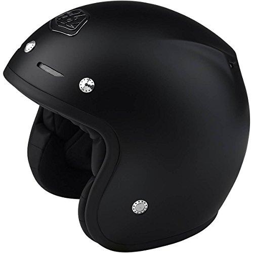 Black Helmet Design - Troy Lee Designs Open Face Composite Classic Adult Off-Road Motorcyle Helmet - Black / XL