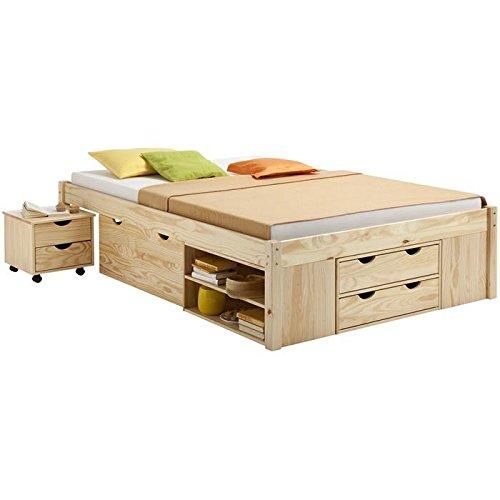 lit en bois avec rangement finest ce lit avec rangement est pos sur une estrade assez haute. Black Bedroom Furniture Sets. Home Design Ideas