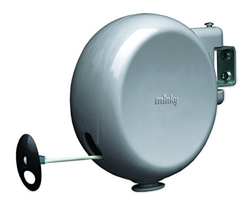 Minky Outdoor Retractable Clothesline, 49', Gray