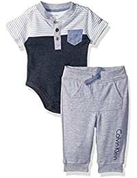 Baby Boys' Hooded Bodysuit and Pant Set