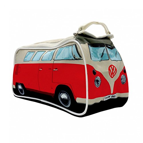 VW Volkswagen T1 Camper Van Toiletry Wash Bag - Red - Multiple Color Options Available