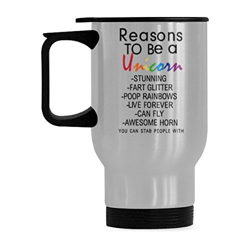 InterestPrint Custom Reasons to Be a Unicorn Quotes 14oz ...
