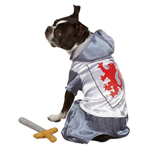Zack & Zoey Polyester Knight Dog Costume, Small, Silver