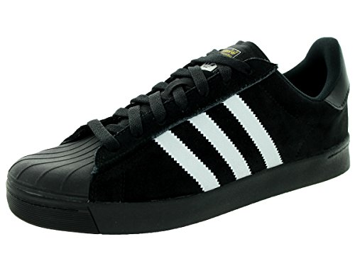adidas Originals Men's Superstar Vulc Adv, Core Black/White/Core Black, 8.5 M US