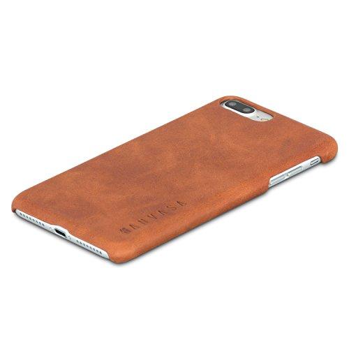 iPhone 8 Plus Leather Case / iPhone 7 Plus Leather Case Back Cover Brown - KANVASA