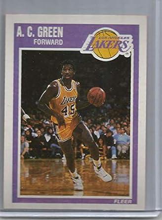 2715e948b1e Amazon.com: 1989-90 Fleer #76 A.C. Green Lakers NBA Basketball Card ...