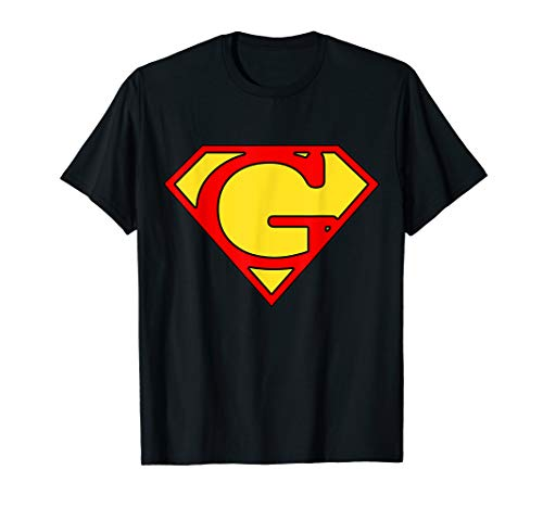 Letter G Super Man T-Shirt -