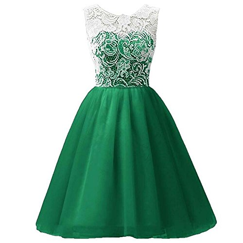 Girls Lace Dress Ballgown for Wedding Party Green 130