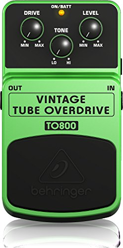 Behringer TO800 Vintage Tube-Sound Overdrive Instrument Effects Pedal