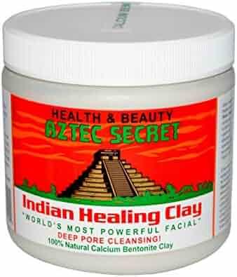 Aztec Secret - Indian Healing Clay - 1 lb.   Deep Pore Cleansing Facial & Body Mask   The Original 100% Natural Calcium Bentonite Clay – New! Version 2