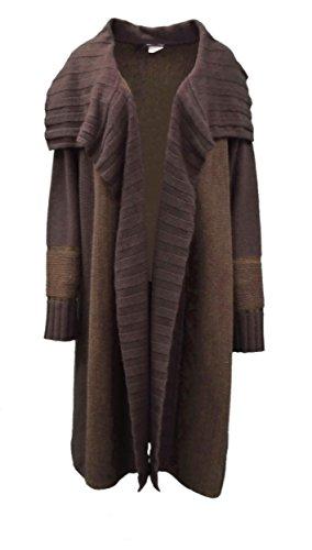 marina-sport-marina-rinaldi-womens-knit-valois-sweater-coat-sz-m-brown-160188mm