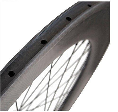 Sunrise Bike Carbon Track 88mm Matte Finish Clincher Rear Wheel for Fixed Gear Bike by SunRise (Image #3)