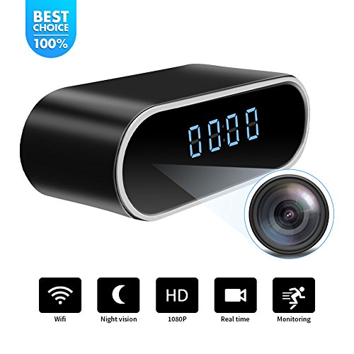 Baby Time Clock - WiFi Hidden Spy Camera Clock |Full HD 1080P|Tiny Wireless Real-time Camcorder|150°Angle Night Vision Motion Detection|Indoor Home Security Monitoring|Baby&Pet Surveillance|USB Plug & Battery