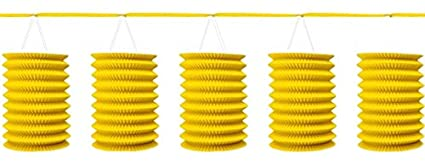 amazon com accordion style paper lantern garlands sunshine yellow