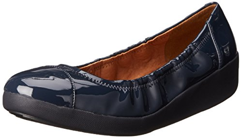 FF2 Por Supernavy Patente De Fitflop Zapatos Bailarina F-pop UK4.5 Supernavy