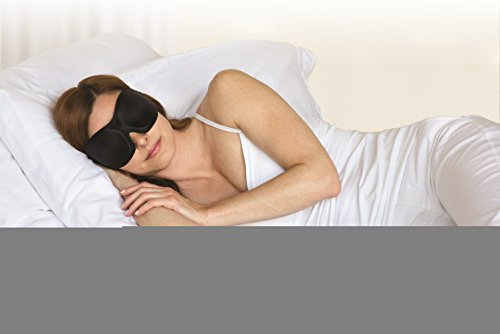 Bucky 40 Blinks Ultralight & Comfortable Contoured, No Pressure Eye Mask for Travel & Sleep, Perfect With Eyelash Extensions - Black Dots by Bucky (Image #8)