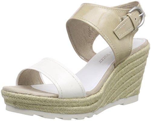 28321 Plateforme Tozzi Femme à Sandales White Blanc Comb 197 Weiß Marco qw1I57xw