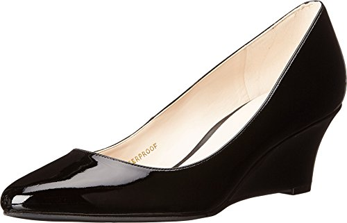 Cole Haan Women's Lena Wedge WP 55mm II Black Patent WP Wedge 10.5 B (M) (Cole Haan Catalina compare prices)