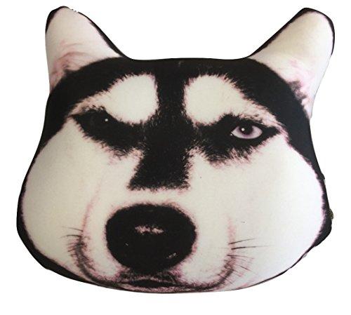 - Tache Squishy Cute Dog Micro Bead Realistic Throw Pillow, Siberian Husky