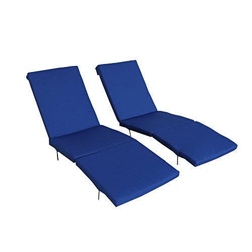 Outime Replacment Cushion Lounge Chair Set with Foam and Cover Set of Two,Royal Blue