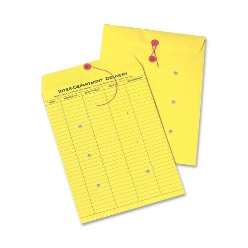 QUA63576 - Colored Paper String amp; Button Interoffice Envelope