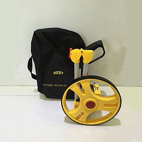 Distance Measuring Wheel with Stand Foldable in Bag Surveyors Builders Road Land 380mm