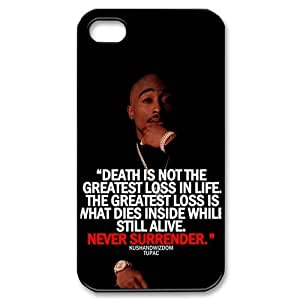 2pac Series, Black / White Design TPU Snap On Case For iphone 6 4.7