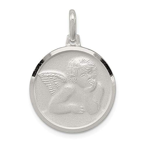 Roy Rose Jewelry Sterling Silver Satin Angel Charm (Jewelry Angel Satin Charm)