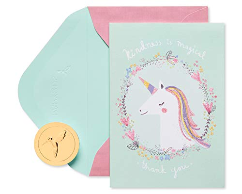 Papyrus Boxed Unicorn Thank You Cards with Envelopes, Kindness is Magical (14-Count)