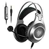 Gaming Headset, (Upgrade Version) NUBWO Wired Gaming Headphones with Microphone and Volume Control for PC/Ps4/Xbox one 1 /Phone/Laptop: more info