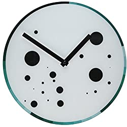 Refelx Non-Ticking Silent Acrylic Wall Clock, Large, Abstract Color Wheel, Cool/Spots