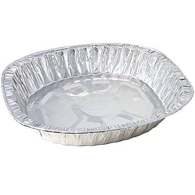 Durable Disposable Aluminum Foil Steam Roaster Pans, Full Size Deep, Heavy Duty Baking Roasting Broiling 18 X 14 X 3.5 Thanksgiving Turkey Dinner