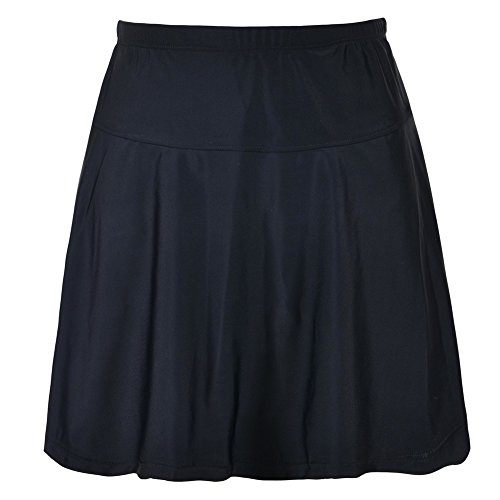 msuit Bottom High Waist Athletic Bikini Bottom Swim Skirt Black 20 ()
