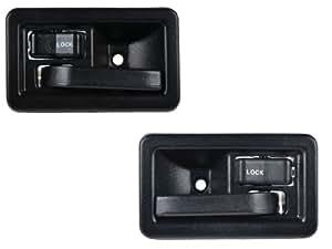 complete inside door handle kit includes 2 handles fits 1987 1995 jeep wrangler yj. Black Bedroom Furniture Sets. Home Design Ideas