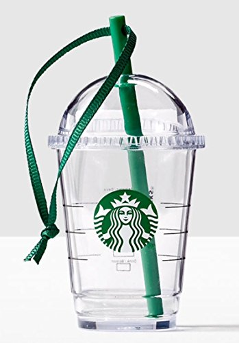Starbucks 2016 Plastic Dome Cold Cup Ornament