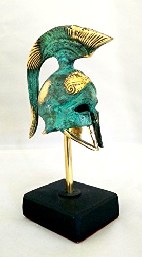 Helmet Museum Replicas (Ancient Greek Bronze Museum Replica of Athenian Helmet on a Base (354-1))
