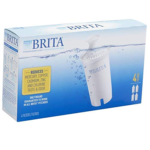 Brita Standard Replacement Filters for Pitchers and Dispensers - BPA Free - 4 Count