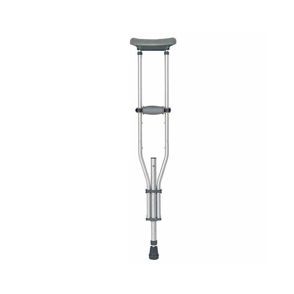NUBAO 身体障害のある人のための障害者用の松葉杖は、95-155cm(37.4-61.02インチ)の調節可能な範囲で柔軟に折り畳むことができます。 (色 : シングル) B07D2F77PH シングル シングル