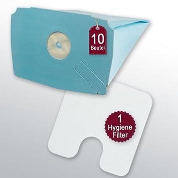10 bolsas para aspiradora + 1 filtro Higiene para ...