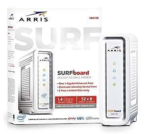 Amazon Com Arris Surfboard 32x8 Docsis 3 0 Cable Modem