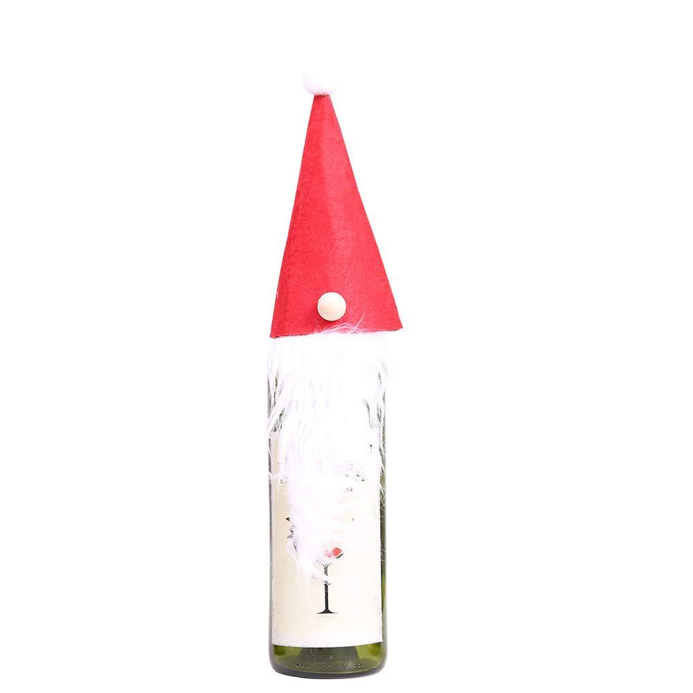 Recoproqfje Lovely Joli GNOME de Noël Bouteille de Vin Housse Wrap Noël dîner de fête Décoration de Table Cadeau