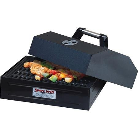 Camp Chef Barbecue Box Accessory | Barbecue box with lid | True seasoned cast iron grate seals in flavor | Cast iron grill plate is removable