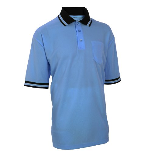 (Adams USA Smitty Major League Style Short Sleeve Umpire Shirt with Front Chest Pocket (Carolina Blue, X-Large))