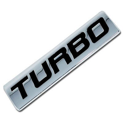 Chrome/Black Metal Turbo Engine Race Motor Swap Emblem Badge For Trunk Hood Door for Honda Civic - 1995 Honda Civic Trunk