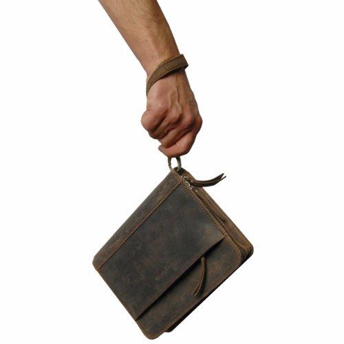 BARON de MALTZAHN Bolsa de hombres - Muñeca bolsa KANT de cuero marrón