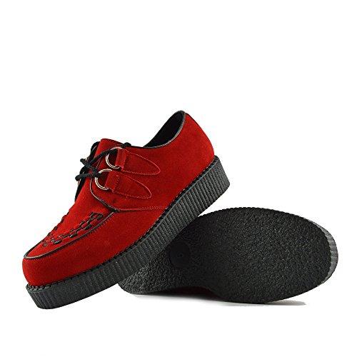 Mens Enredaderas De La Moda Negro Pisos Vestido Formal De Zapatos Rojo